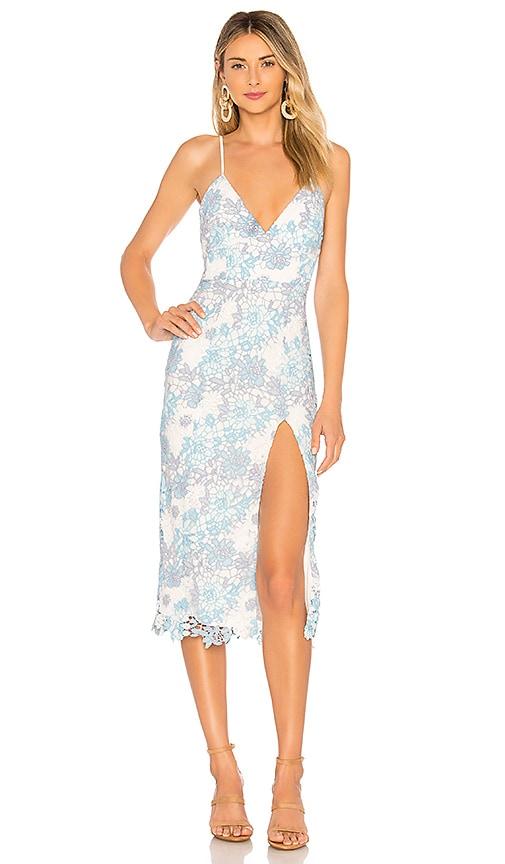 7e9054de45f6 Lovers + Friends Saba Midi Dress in Blue Multi