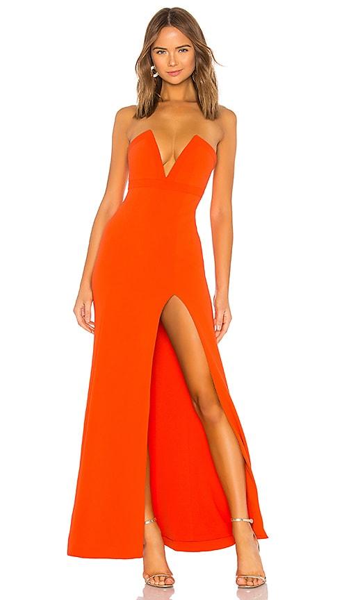 Lovers Friends Fabiola Gown In Blood Orange Revolve