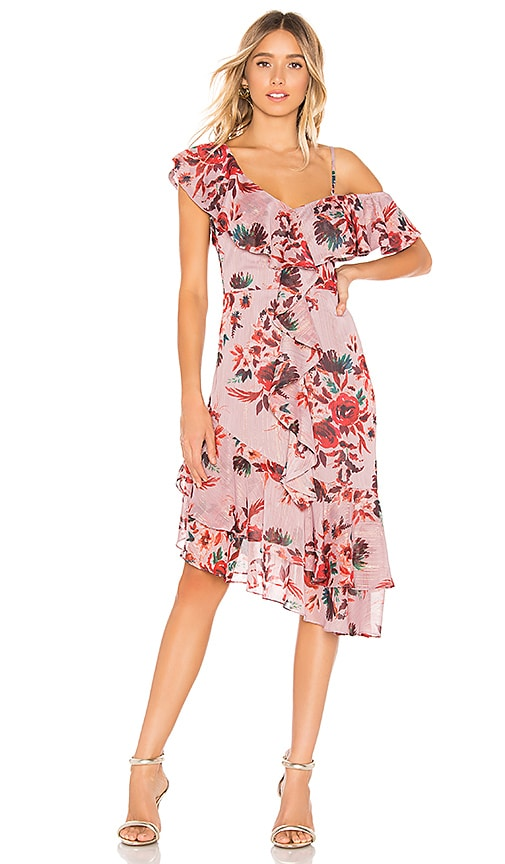 Lovers + Friends Stacy Midi Dress in Holiday Floral  9af749144