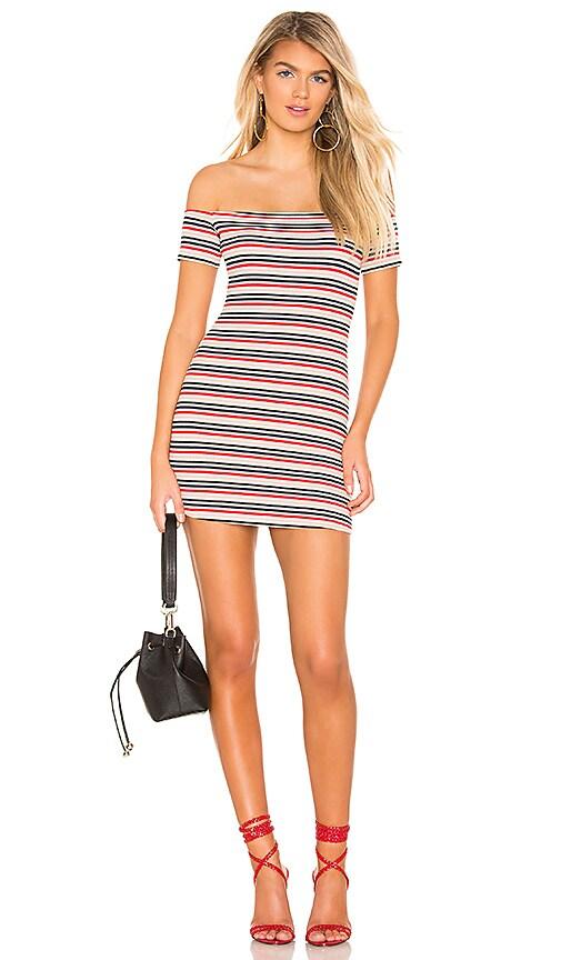 Lovers + Friends Indy Mini Dress in Navy Stripe | REVOLVE