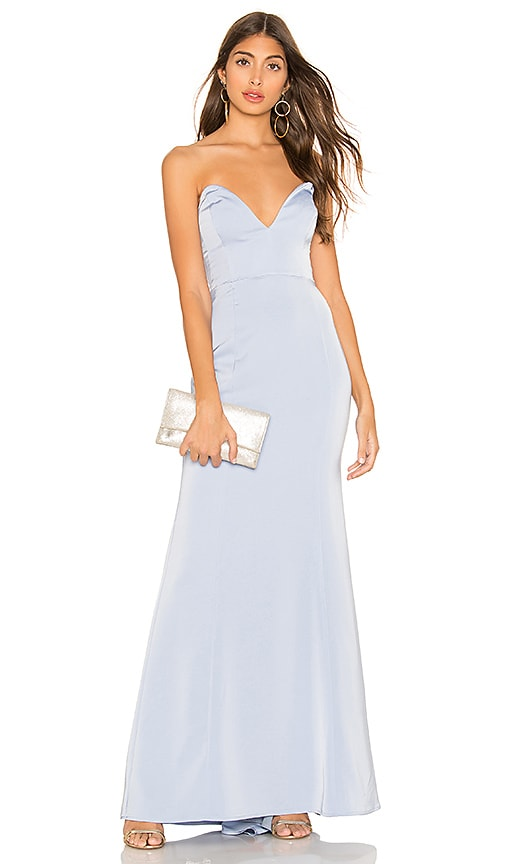 Lovers+ Friends Pelagic Gown in Baby Blue