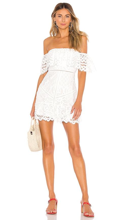 VINNIE 오프 숄더 미니 드레스