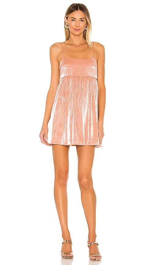 Lovers + Friends Davina Mini Dress in Peach Pink | REVOLVE