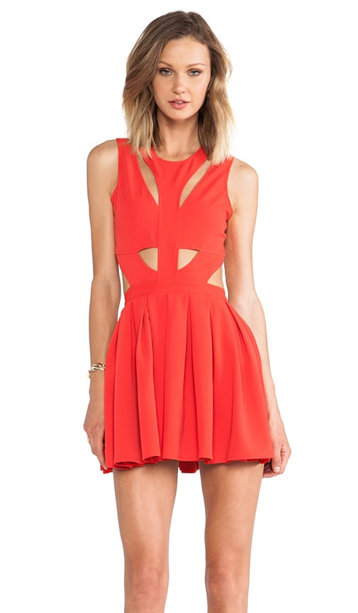Lovers + Friends Cutting Corners Dress in Poppy