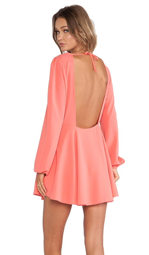 Lovers + Friends Island Hopper Fit & Flare Dress in Coral