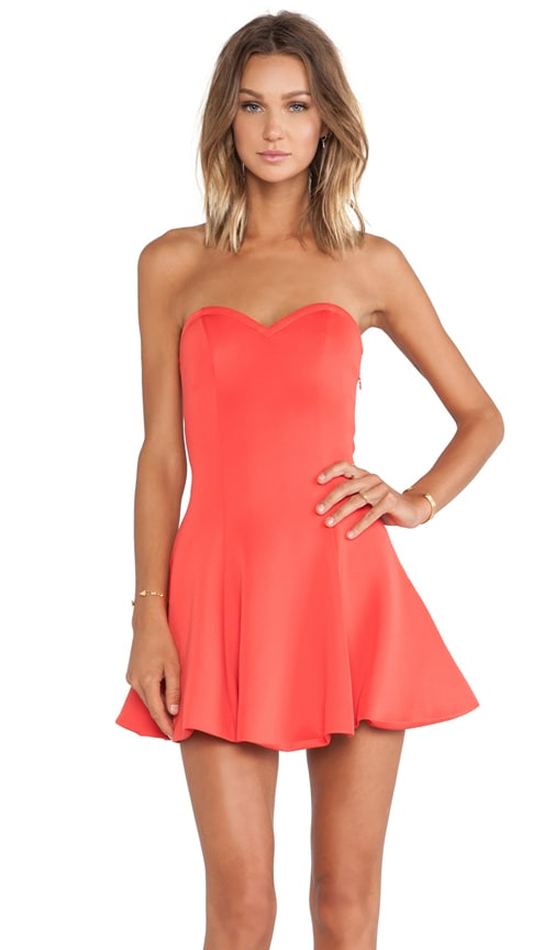 Lovers + Friends Wisteria Fit & Flare Dress in Orange