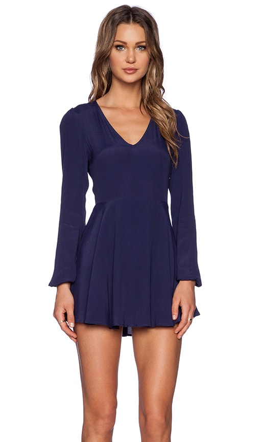 Lovers + Friends Shimmy Dress in Navy