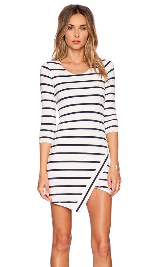 Lovers + Friends Sweet Surrender Dress in Navy Stripe