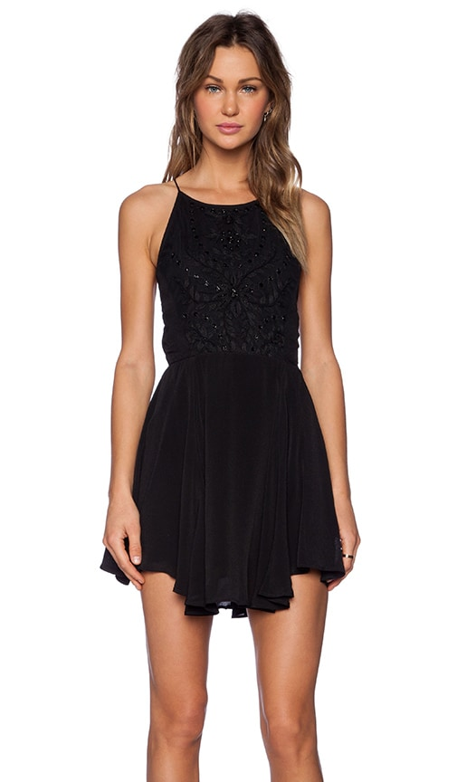 Lovers + Friends Jasmine Fit & Flare Dress in Black