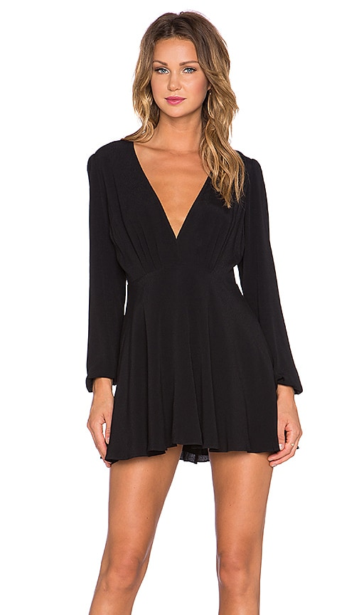 Lovers + Friends x REVOLVE Deep V Shimmy Dress in Black