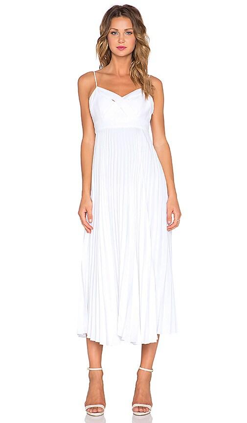 Lovers + Friends x REVOLVE Catalina Pleated Midi Dress in Ivory
