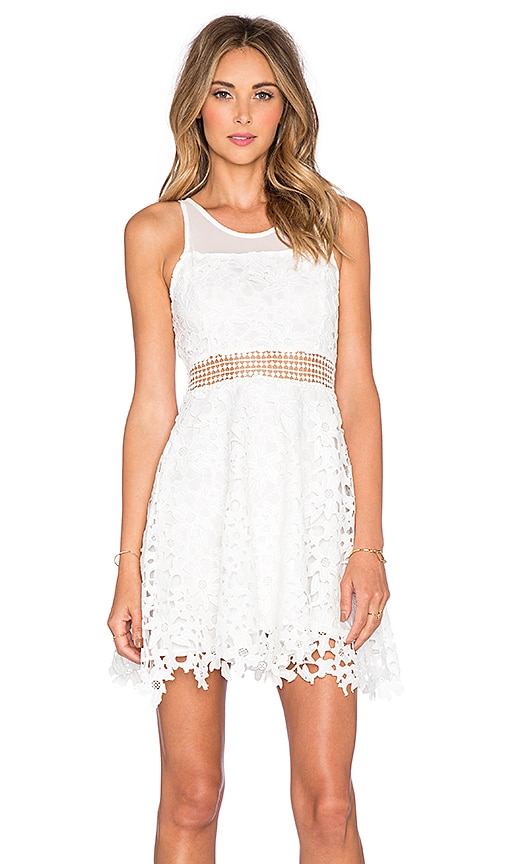 Lovers + Friends x REVOLVE Play Date Fit & Flare Dress in White