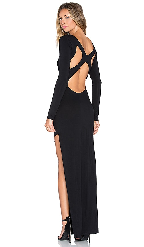 Lovers + Friends Call Me Girl Maxi Dress in Black