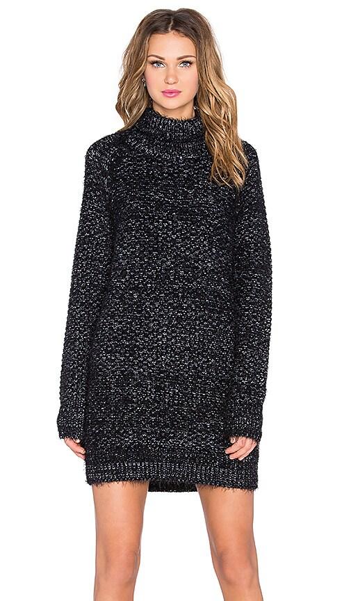 Lovers + Friends Night Sky Sweater Dress in Charcoal