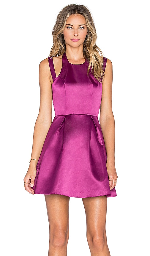 Lovers + Friends x REVOLVE Mega Fit & Flare Dress in Berry