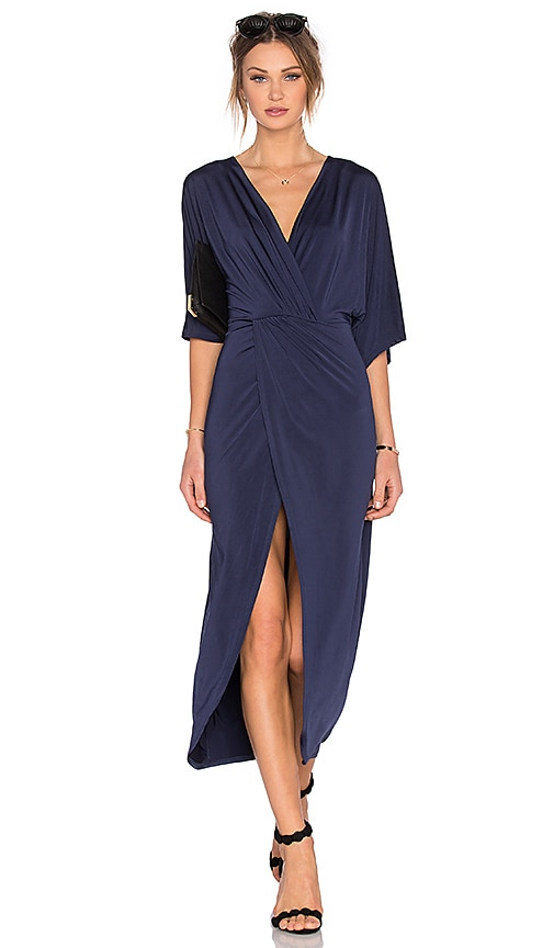 Lovers + Friends Cruise Wrap Dress in Navy