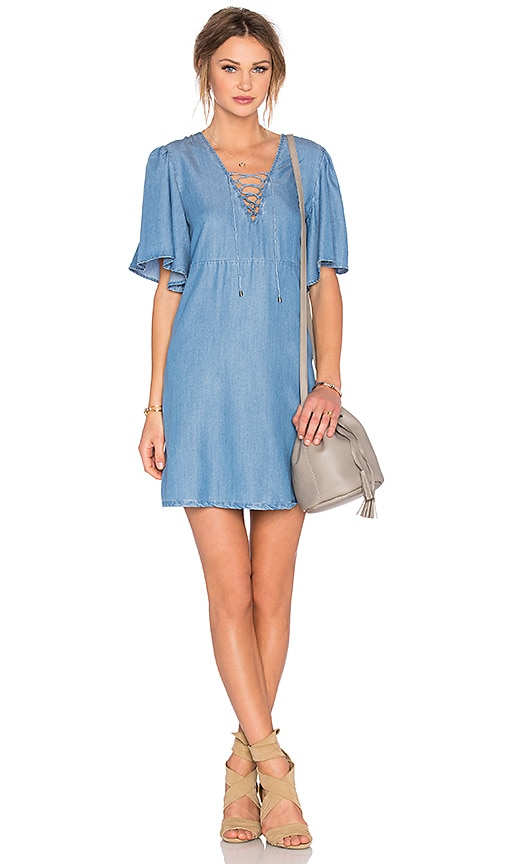 Lovers + Friends Washed Ashore Dress in Blue