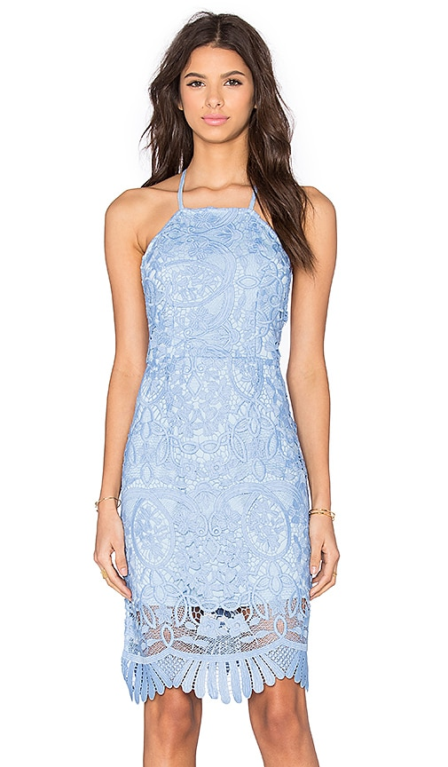 Lovers + Friends Nina Midi Dress in Crystal Blue
