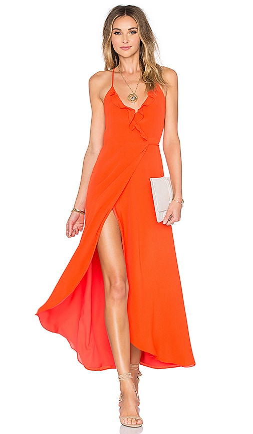 Lovers + Friends Nostalgia Maxi Dress in Coral