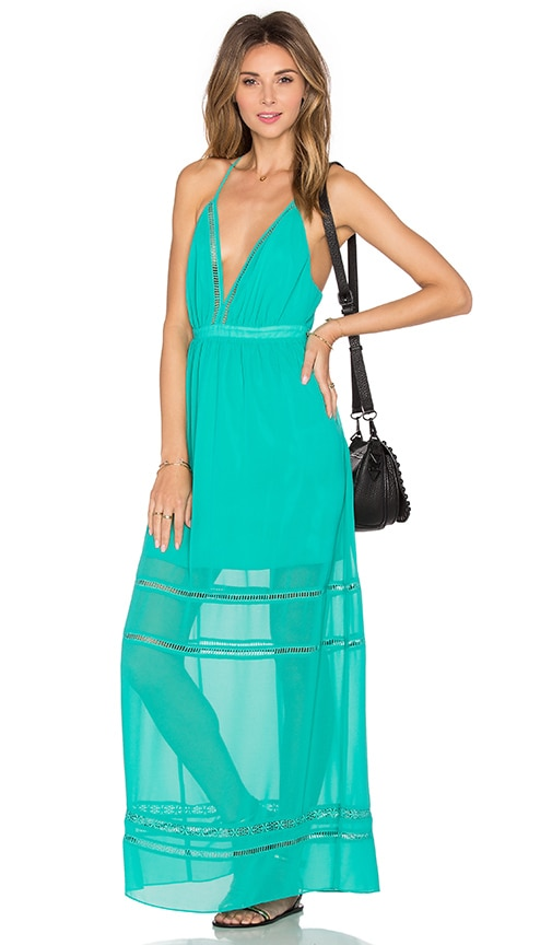 Lovers + Friends Lunar Maxi Dress in Green