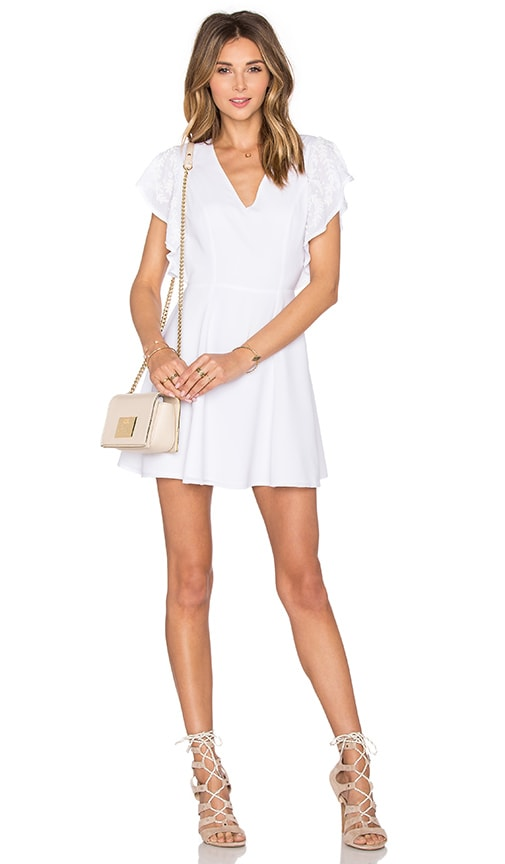Lovers + Friends x REVOLVE The Roma Fit & Flare Dress in White