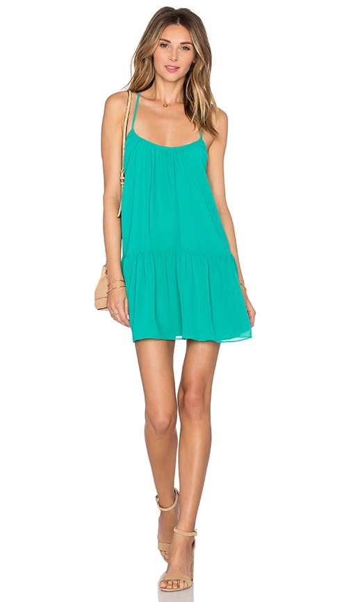 Lovers + Friends Beau Mini Dress in Green