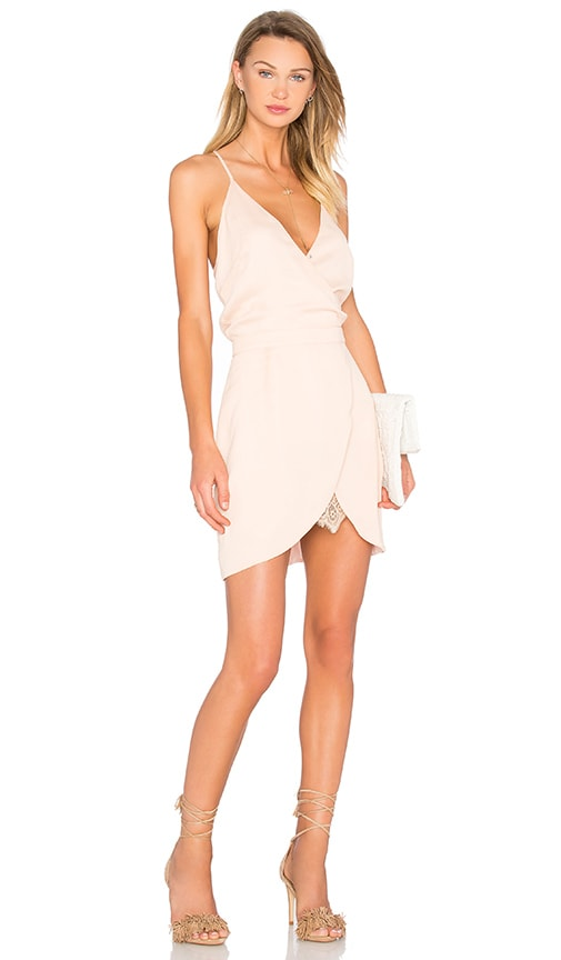 Lovers + Friends Soulmate Mini Dress in Peach