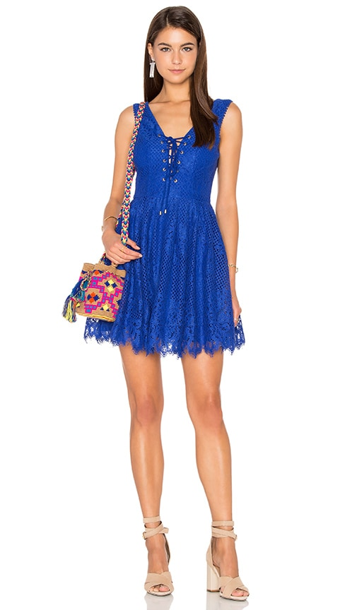 Lovers + Friends Storm Mini Dress in Blue