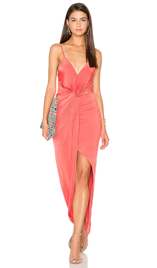 Lovers + Friends Eye Catching Dress in Coral