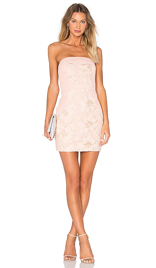 Lovers + Friends Break Free Bodycon Dress in Blush