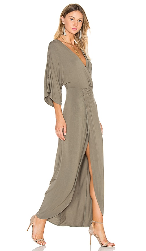 Lovers + Friends Cruise Wrap Dress in Olive