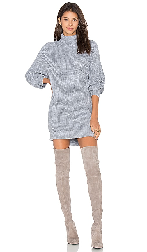 Lovers + Friends Christina Sweater Dress in Gray