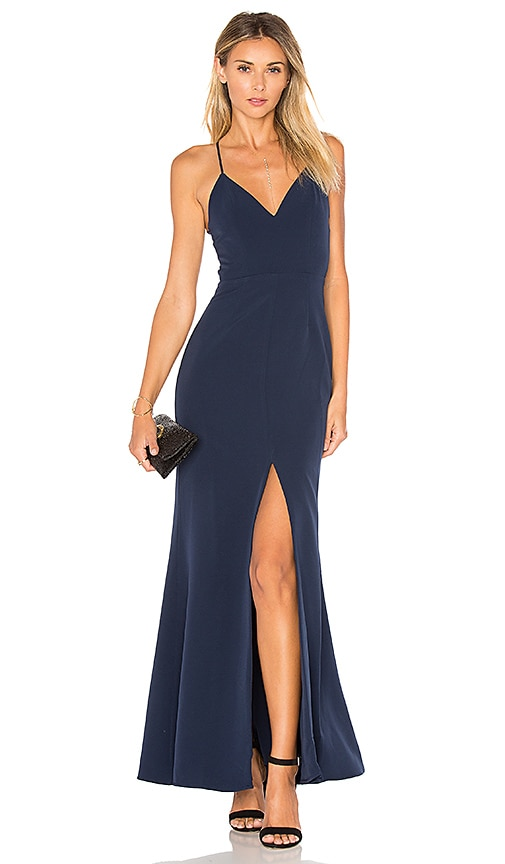 Lovers + Friends x REVOLVE Helena Gown in Navy