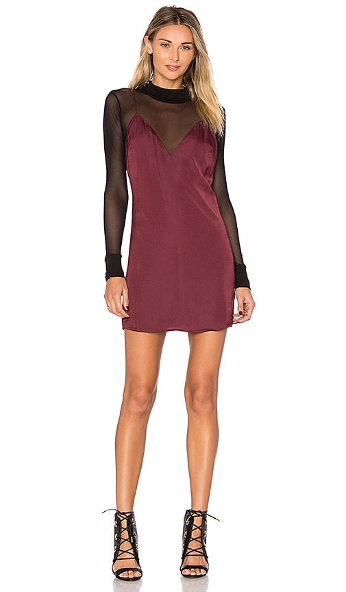 Lovers + Friends x REVOLVE Mini Slip Dress in Burgundy