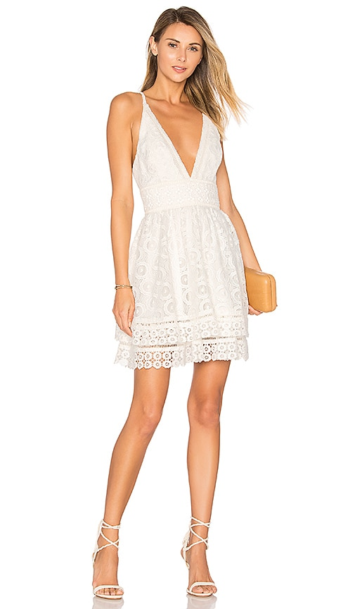 Lovers + Friends Moon Dance Dress in White