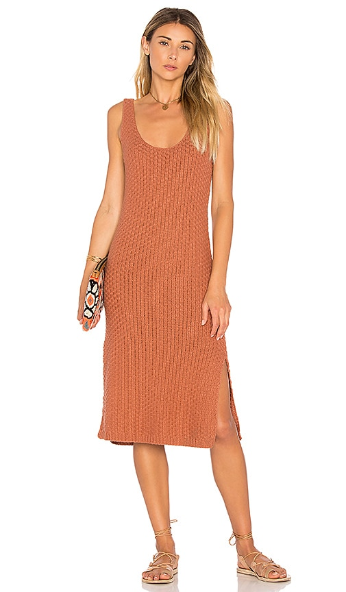 Lovers + Friends Julia Knit Dress in Tan