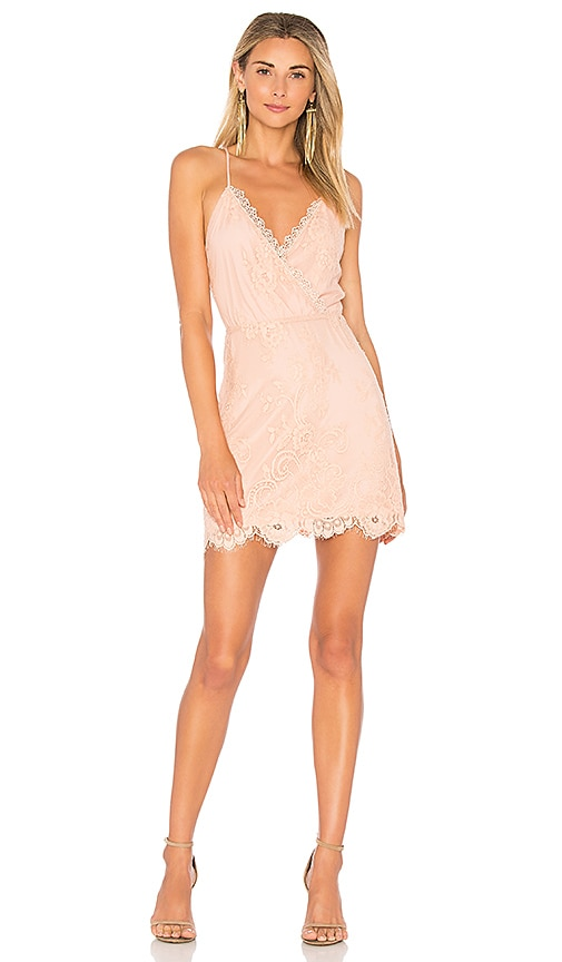 Lovers + Friends Art Deco Dress in Blush