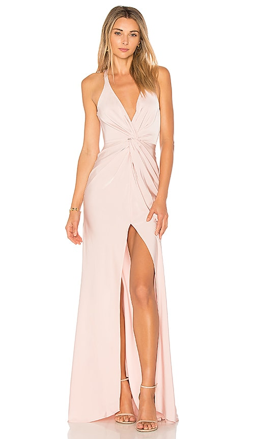 Lovers + Friends Xael Gown in Blush