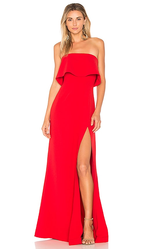 Lovers + Friends Anzen Gown in Deep Red | REVOLVE