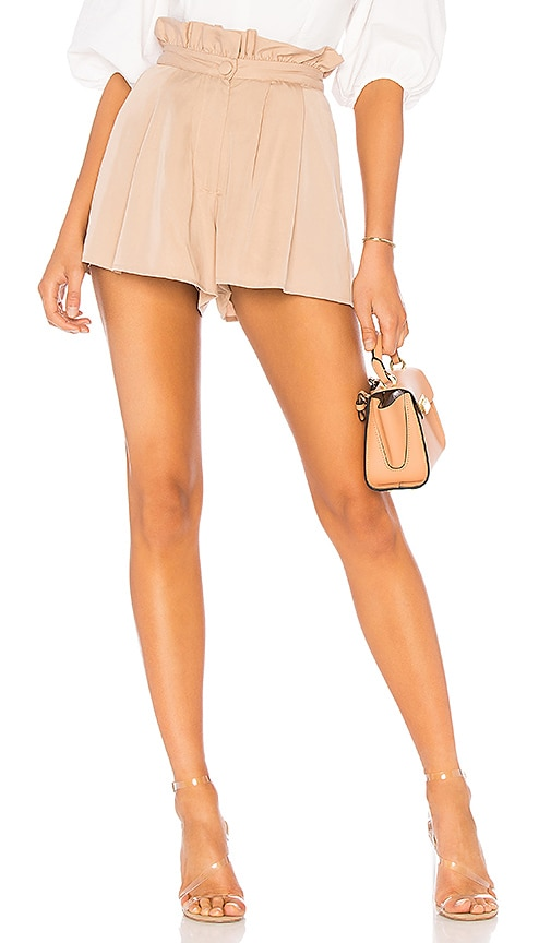 Lovers + Friends Tati Short in Cream