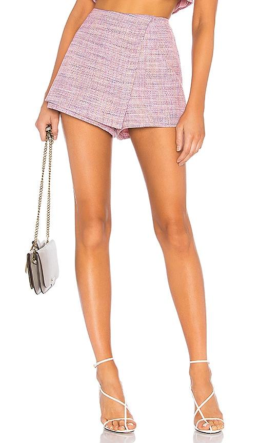 Pink Tweed Skort