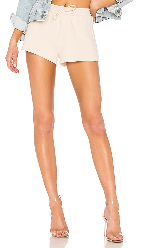 Lovers + Friends Elora Crop Shorts in Cream