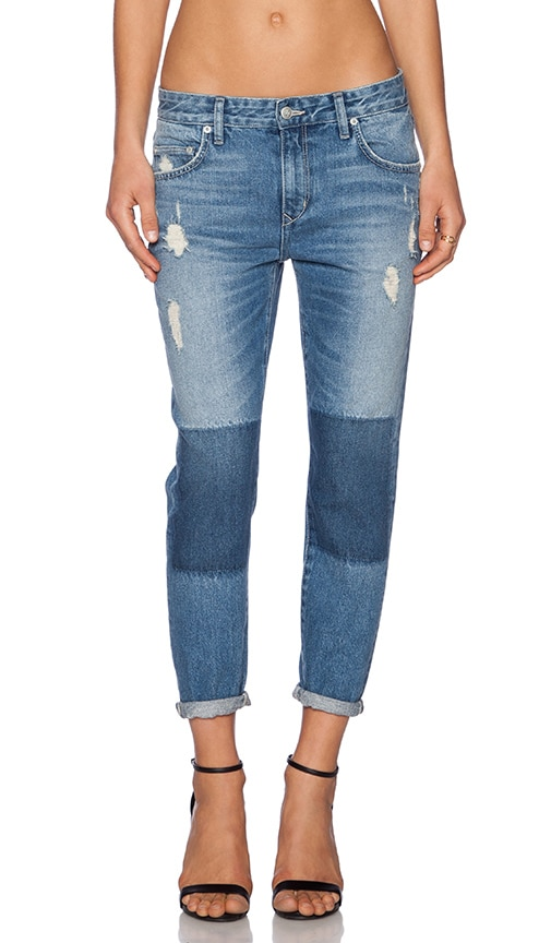 Lovers + Friends Ezra Cropped Slim Boyfriend Jean in Oxford