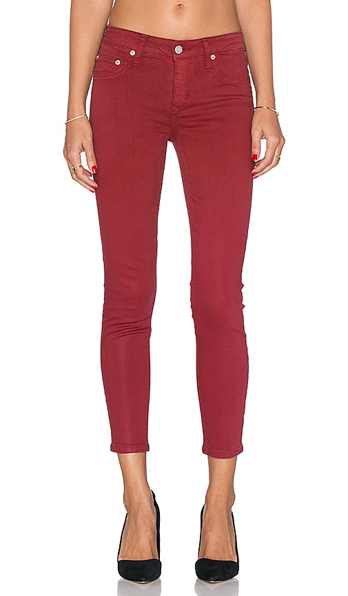 Lovers + Friends Ricky Skinny Jean in Red