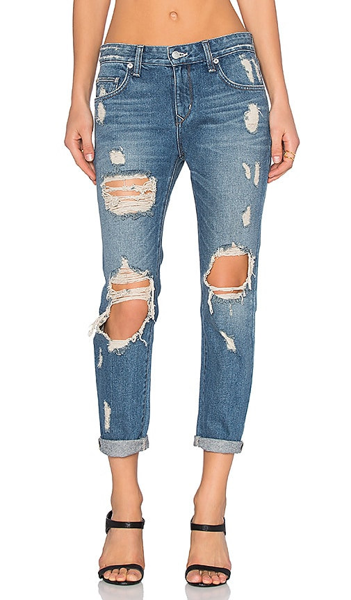 Lovers + Friends Ezra Slim Boyfriend Jean in Angelus