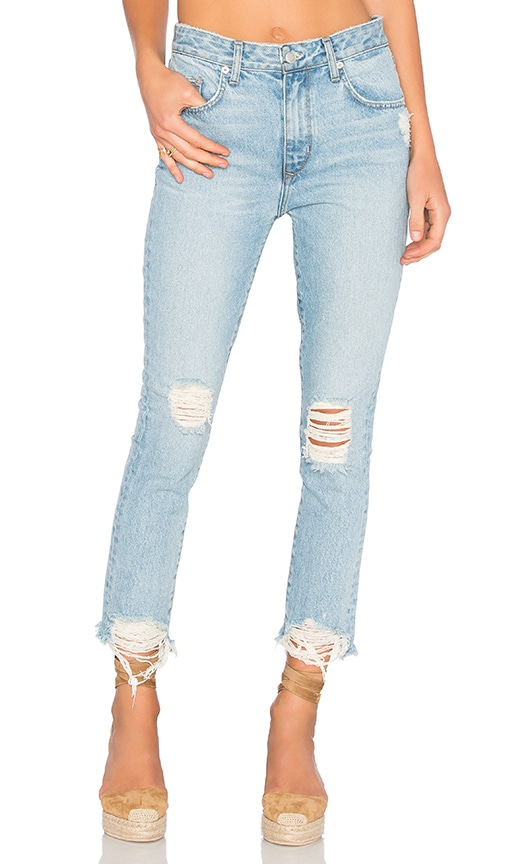 Lovers + Friends Logan High-Rise Tapered Jean in Siena