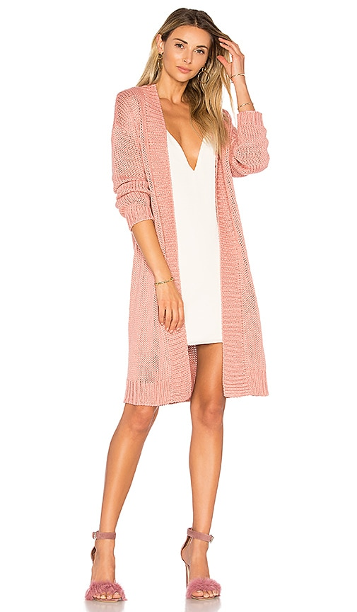 Lovers + Friends Cozy Cardigan in Rose