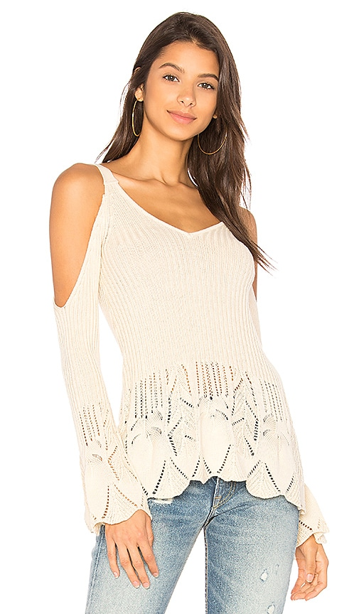 Lovers + Friends x REVOLVE Denny Sweater in White