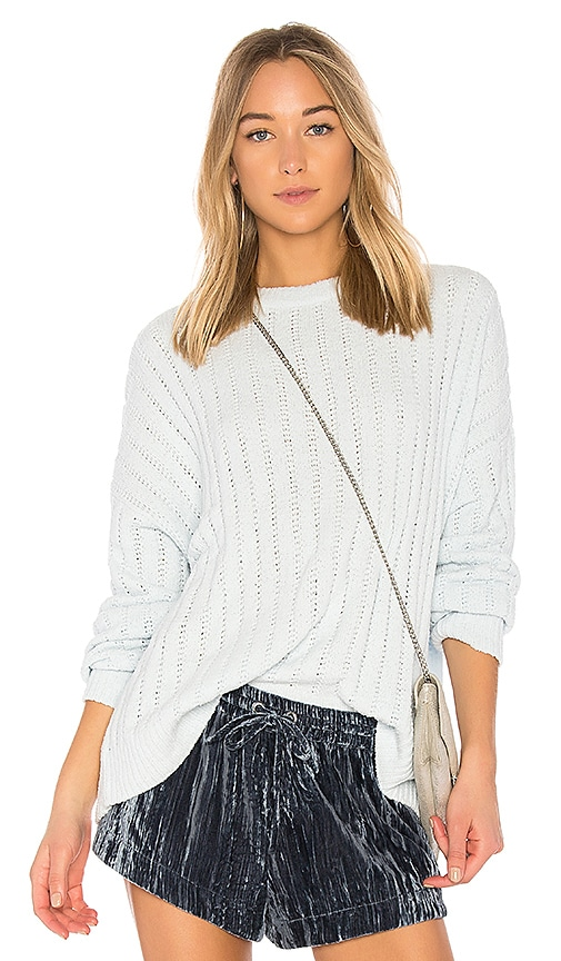 Lovers + Friends x REVOLVE Crescent Sweater in Baby Blue