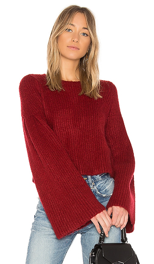 Lovers + Friends Maxine Sweater in Red